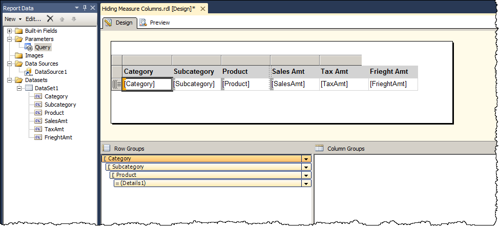 Dynamic column visibility | Paul Turley's SQL Server BI Blog