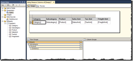 Creating a Table Report with Dynamic Columns | Paul Turley's