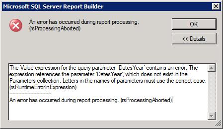 Debugging Parameter Dependencies in Reporting Services | Paul