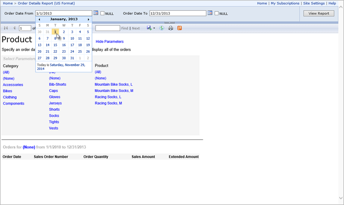 Drill-through to Details from Reporting Services to Excel