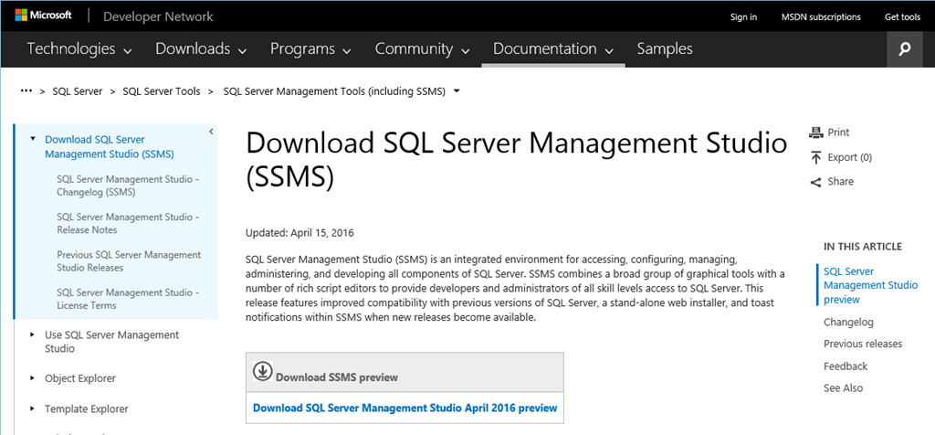 where are sql server 2016 client tools paul turley s sql server