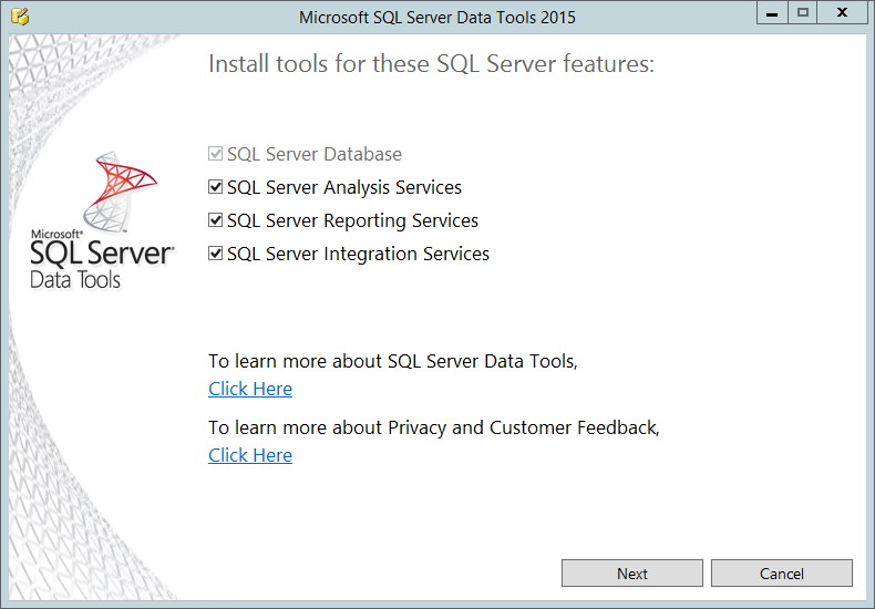 Where are sql server 2016 client tools paul turleys sql server if youve been around microsoft products for a while youll remember when sql server 2012 went with visual studio 2010 which went with office 2013 or flashek Image collections