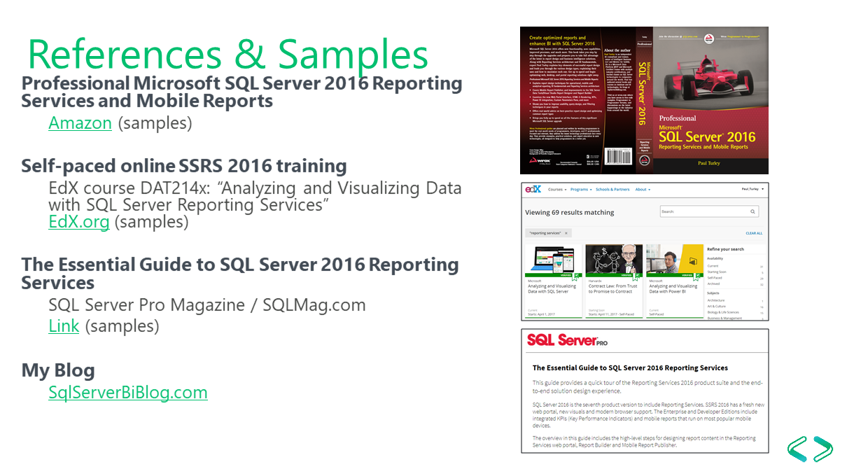 Mobile Reporting in SSRS 2016 and 2017 | Paul Turley's SQL