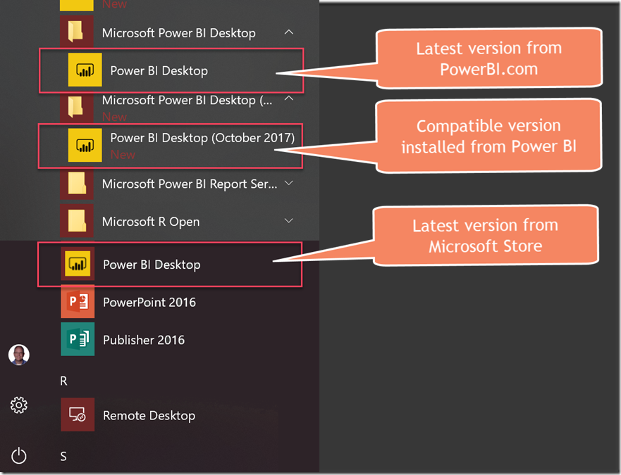 Managing Multiple Power BI Desktop Application Versions