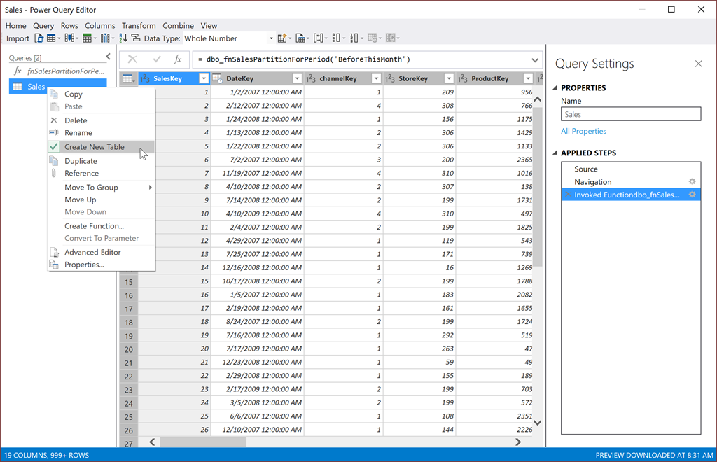 SQL or M? – SSAS Partitions Using SQL Server Table-Valued